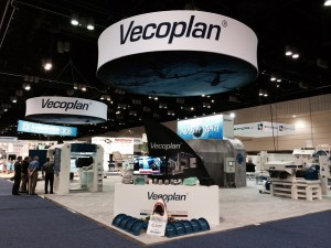 The Vecoplan booth.