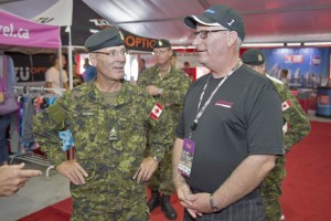 From left: Army Commander Lieutenant-General Marquis Hainse and Wittmann Canada president Rob Miller.