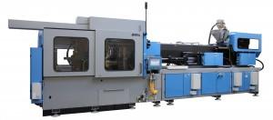 300-ton PET preform molding machine.