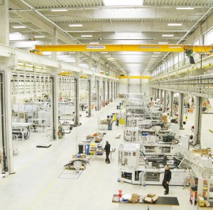 The interior of Milacron's new Czech Republic plant.
