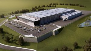 Artist's sketch of Magna's new aluminum casting facility in the U.K.