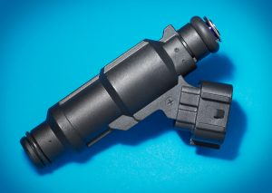 Delphi Automotive's overmolded polyamide heated tip fuel injector.