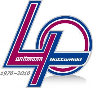 The company's 40 year logo.
