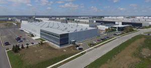 Bird's-eye view of Athena's new facility.
