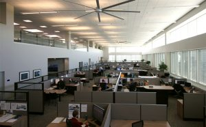 The office area of the new facility.