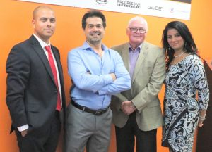 The CAMM Toronto board of directors. From left to right, Jonathan Azzopardi, Cyrus Jebely, Russell Vardy, and Kim Thiara.