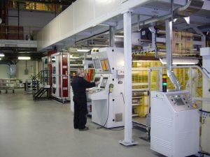 Operating a Uteco press.