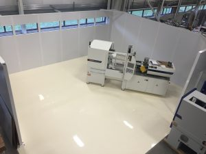 The new cleanroom at Wittmann Battenfeld's American HQ.