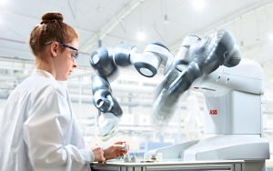 Working with a YuMi collaborative robot from ABB Inc.