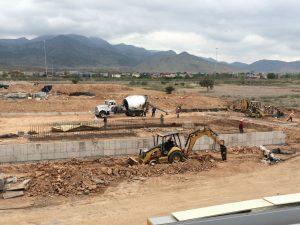 Solvay's new compounding unit under construction in San Luis Potosí, Mexico.
