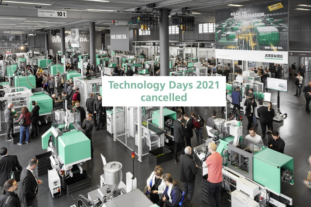 Arburg cancels Technology Days for 2021